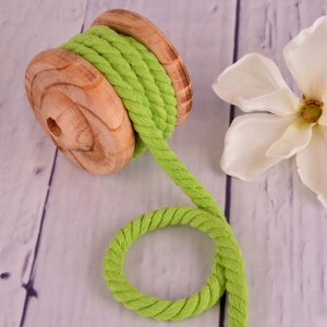 Twisted Cotton Cord XXL Uni Lime 12 mm