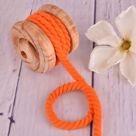 Twisted Cotton Cord XXL Uni Orange 12 mm