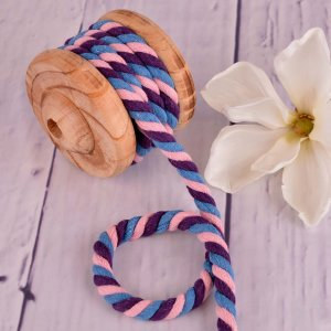 Twisted Cotton Cord XXL Multicolour Blue Pink Purple 12 mm