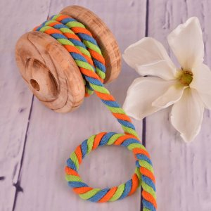 Twisted Cotton Cord XXL Multicolour Blue Green Orange 12 mm