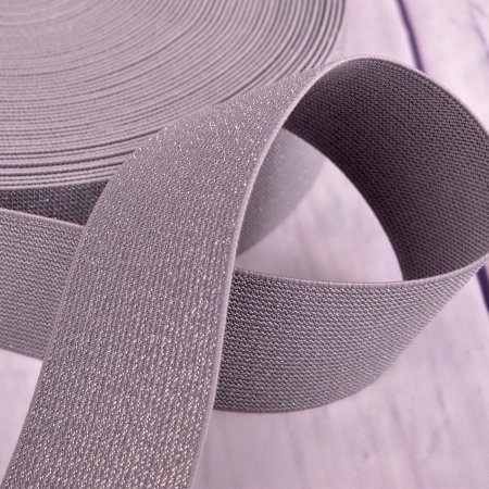 XXL Elastic Tape Glitter Light Grey 5 cm
