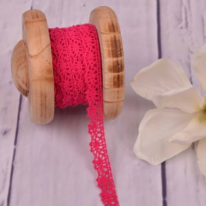 Knitted Trim Lace Trim Pink 15 mm