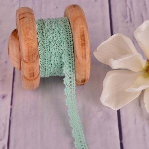 Knitted Trim Lace Trim Lace Mint 15 mm