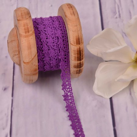 Knitted Trim Lace Trim Violet 15 mm