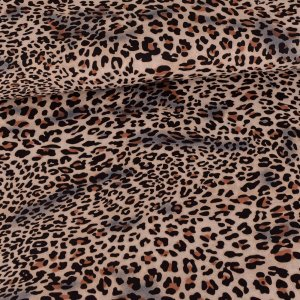 Chiffon Leoprint Brown Black