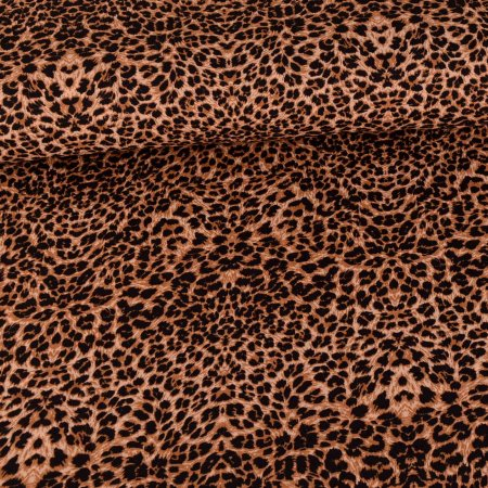 Chiffon Leoprint Black on Brown