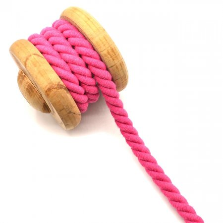 Twisted Cotton Cord XXL Uni Pink 14 mm