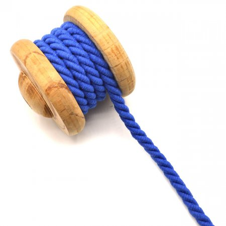 Twisted Cotton Cord Uni royal blue 10mm