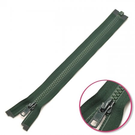 Zipper Dark Green Seperable with Teeth Plastic YKK (4335956-890)