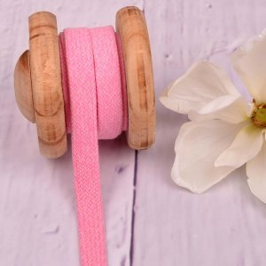 Flat Cotton Cord Hoodie String Light Pink Melange 15mm