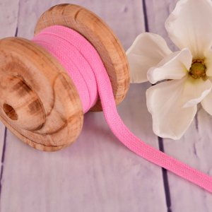 Flat Cotton Cord Hoodie String Light Pink 15mm