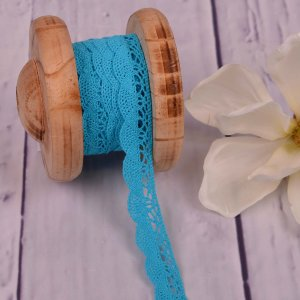 Knitted Trim Lace Trim Aqua 20 mm