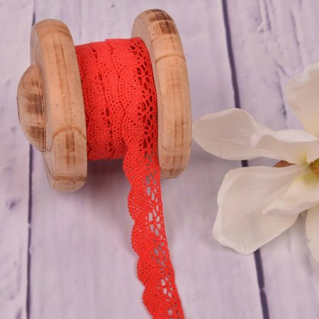 Knitted Trim Lace Trim Red 20 mm