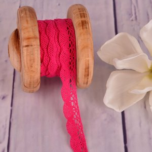 Knitted Trim Lace Trim Pink 20 mm