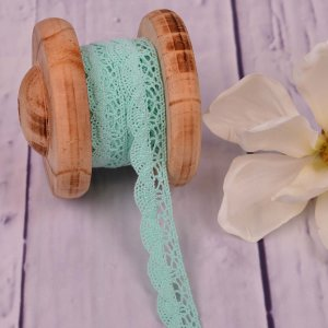 Knitted Trim Lace Trim Mint 20 mm