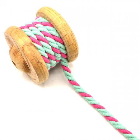 Twisted Cotton Cord Mint Pink 10mm