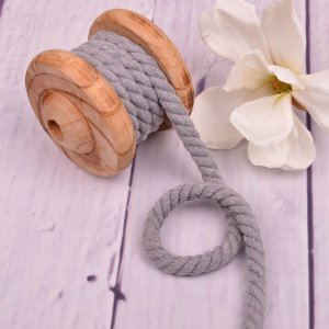 Twisted Cotton Cord XXL Uni Light Grey 12 mm