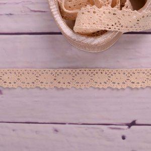 Knitted Trim Lace Trim Lace Cream 25 mm