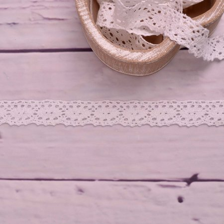Knitted Trim Lace Trim White 25 mm
