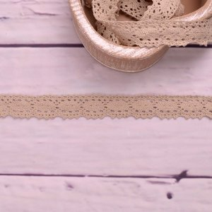 Knitted Trim Lace Trim Sand 25 mm