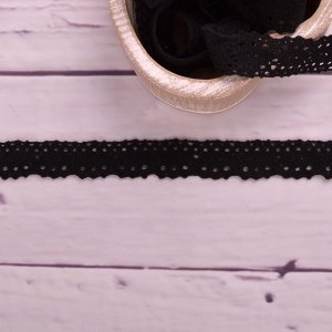 Knitted Trim Lace Trim Lace Black 25 mm