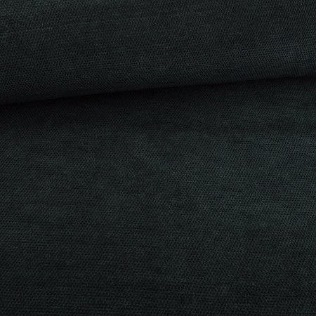 Knitted fabric chenille dark green