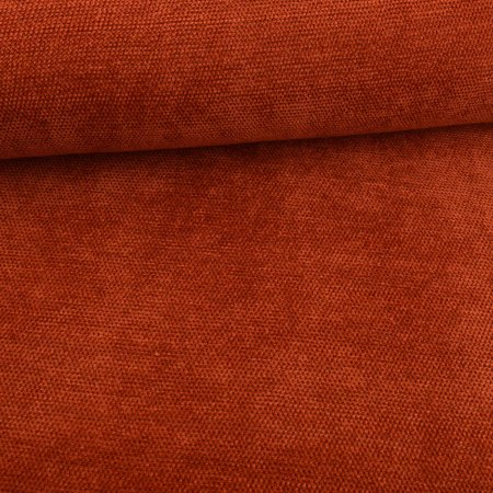 Knitted fabric chenille rust