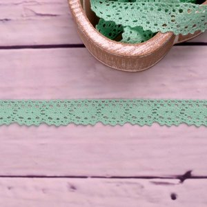 Knitted Trim Lace Trim Lace Mint 25 mm