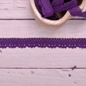 Knitted Trim Lace Trim Purple 25 mm