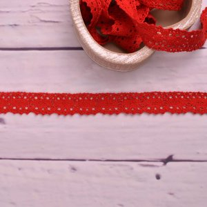 Knitted Trim Lace Trim Lace Red 25 mm