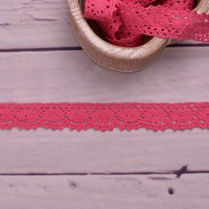 Knitted Trim Lace Trim  Light Pink 25 mm
