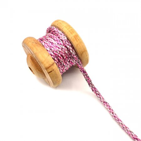 Artificial Silk Cord Braided Pink 8mm