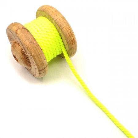 Twisted Cord Neon Yellow 5 mm