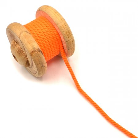 Twisted Cord Neon Orange 5 mm