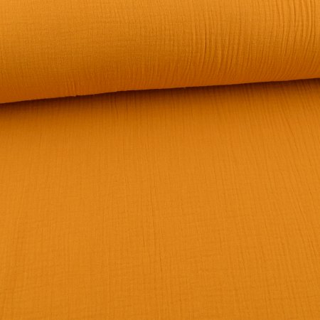 Muslin Cotton Double Gauze Uni Mustard