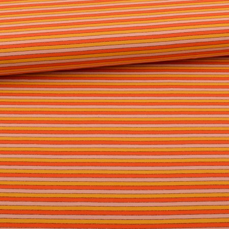 Jersey Lurex Glitter Stripes light Pink Orange Yellow
