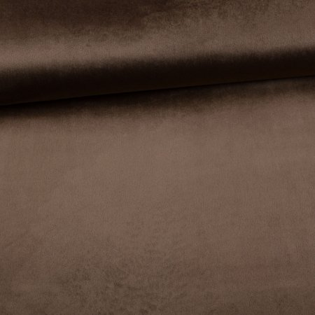 Velour Velvet decoration uni brown