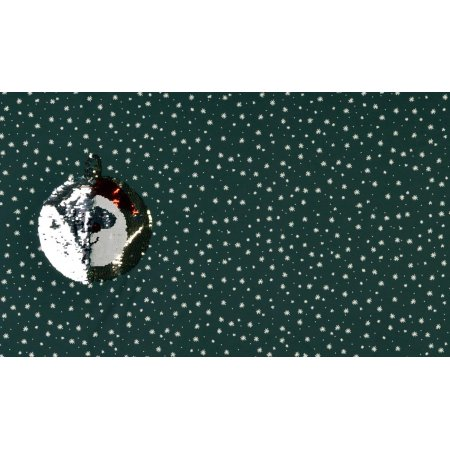 French Terry Panel reversible sequins Santa Claus dusky mint
