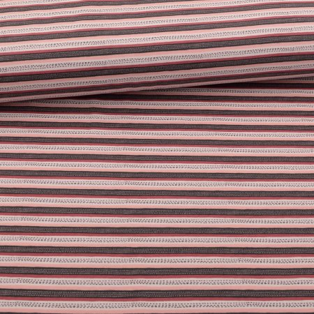 organic soft touch Year-round sweat brushed stipes Rosé