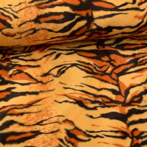 Costume Fabric animal print tiger sand