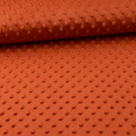 Minky Fleece Dots Uni rust