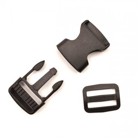 Bag Closure 2,5cm Black