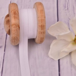 Cotton Jersey Bias Tape Binding White