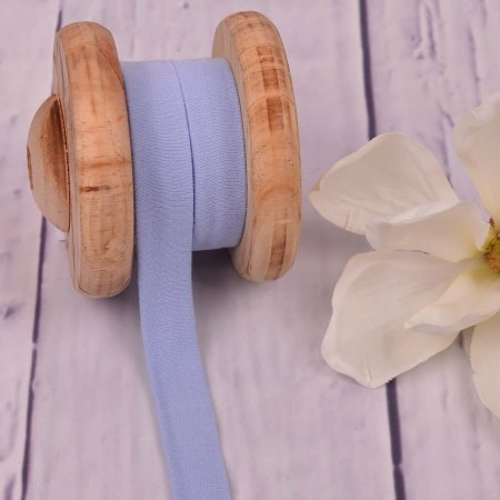 Cotton Jersey Bias Tape Binding Light Blue