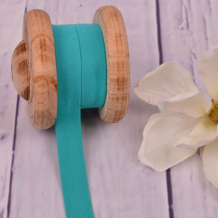 Cotton Jersey Bias Tape Binding Turquoise