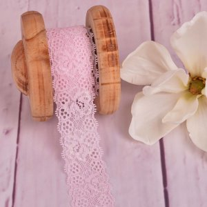 Elastic Lace Flower Dream Light Pink 35mm