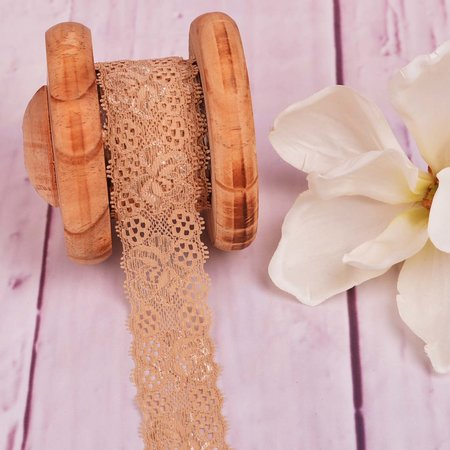 Elastic Lace Flower Dream Sand 35mm