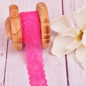 Elastic Lace Flower Dream Pink 35mm