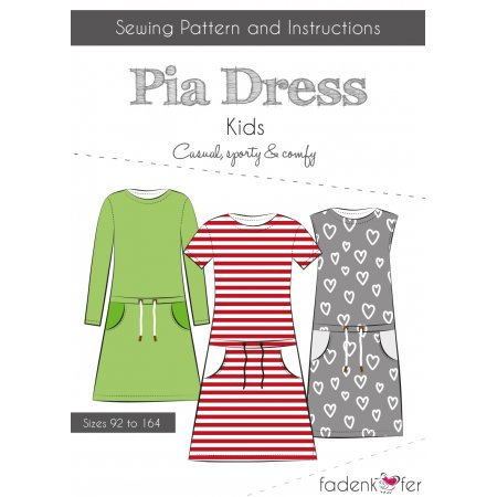 Paper Cut Pattern Dress Pia for Kids