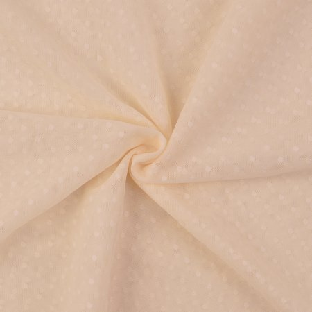 Soft Tulle Fabric Dots cream